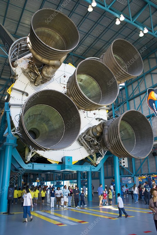 Saturn V rocket and F-1 engines