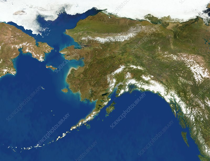 Alaska, satellite image