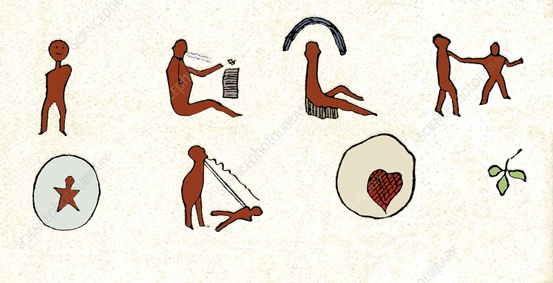 Native American love song pictogram