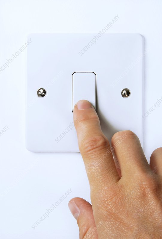 Hand operating light switch