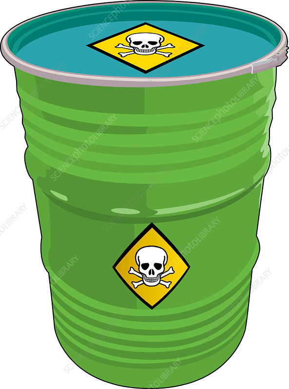 Barrel of Toxic Waste - Stock Image C004/7022 - Science ...