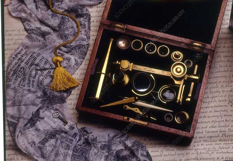 Microscope with Gold Slide