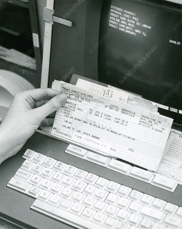 Airline Ticket, Early Computers