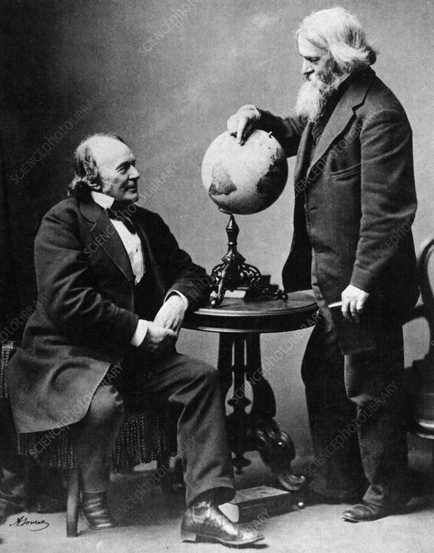 Louis Agassiz and Benjamin Peirce