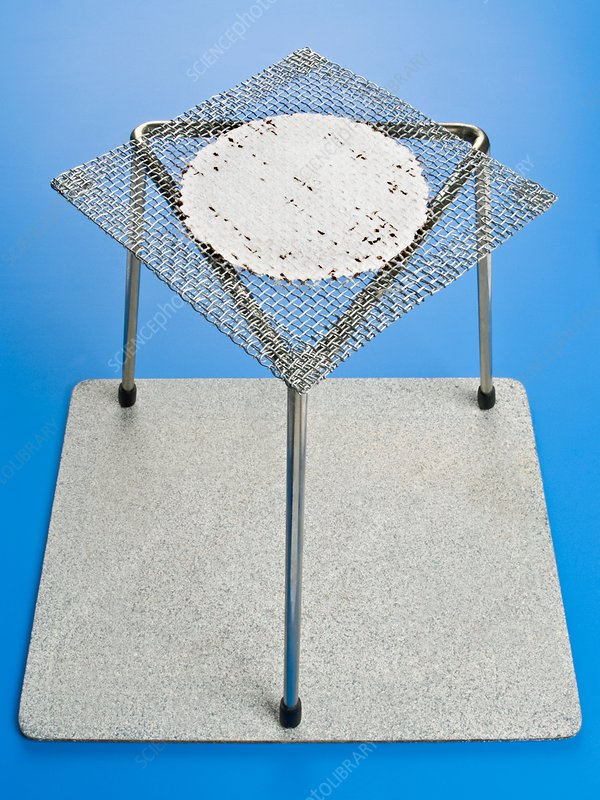 Bunsen Burner Tripod Stand And Gauze Stock Image C004