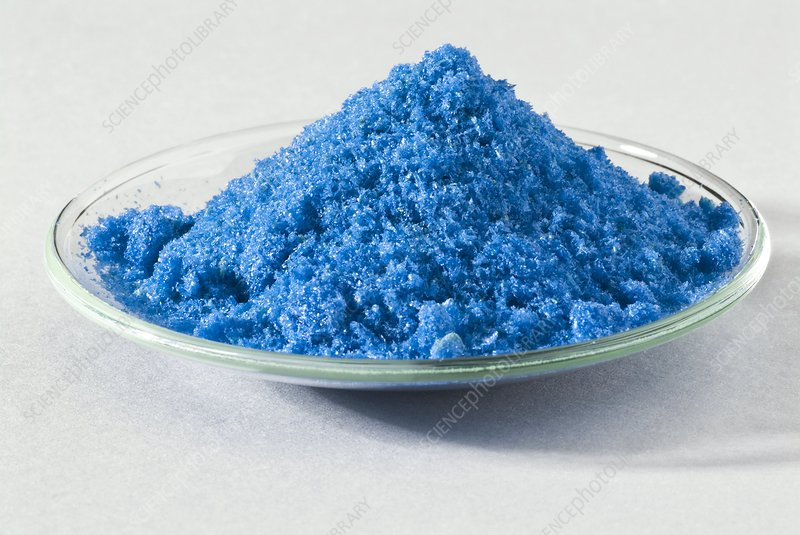 Hydrated copper (II) sulphate crystals