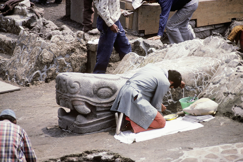 Templo Mayor Excavation, 1978