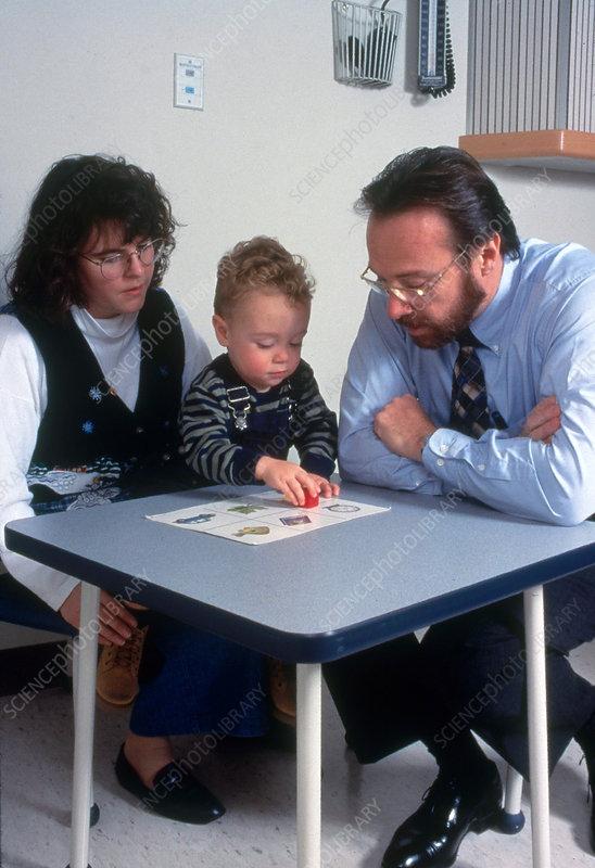 Pediatric Neurological Examination - Stock Image - C004/8210