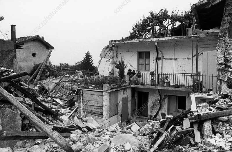Friuli Earthquake Damage, Italy, 1976