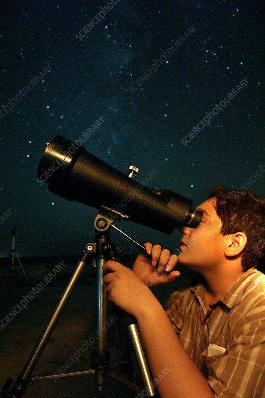 Young Astronomer Observing the Sky