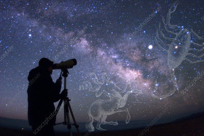 Stargazer viewing Scorpius and Sagittariu