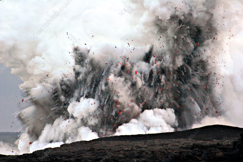 Littoral Explosion at Kilauea Volcano, Ha