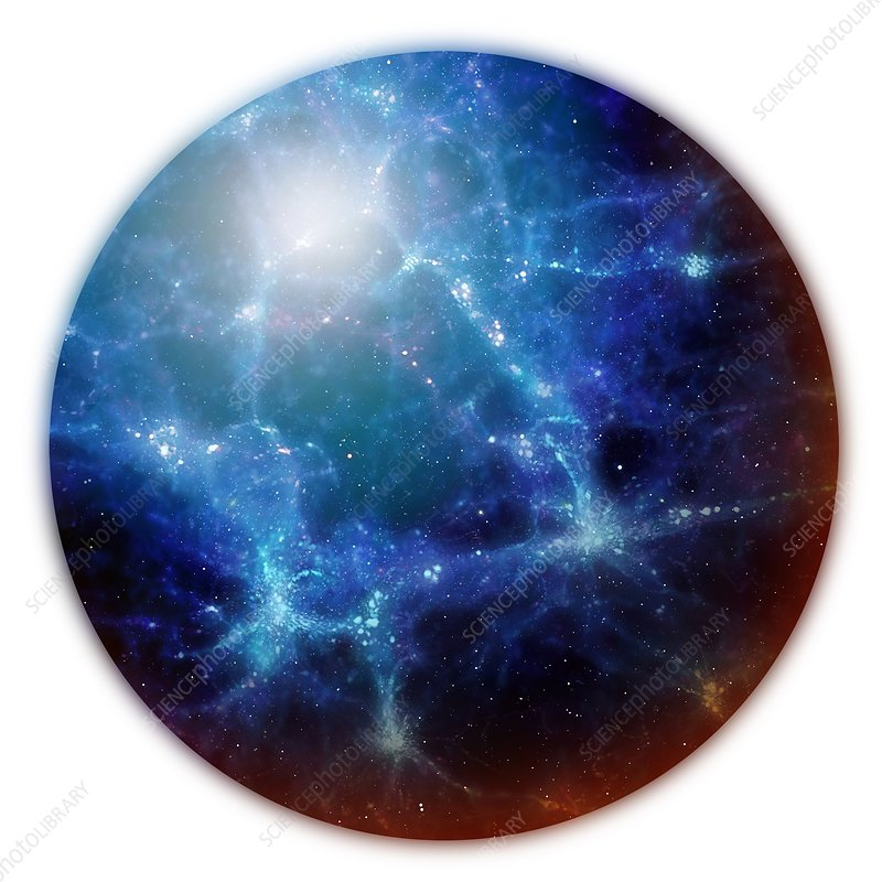 Universe's large-scale structure, artwork