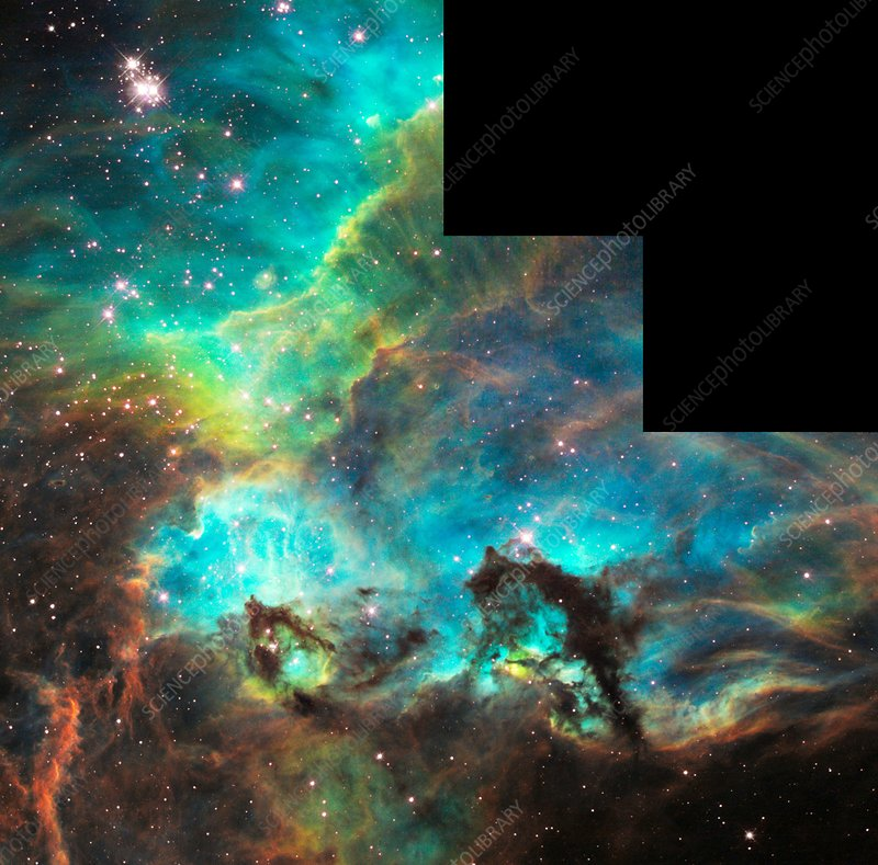 Starbirth region near NGC 2074, HST image