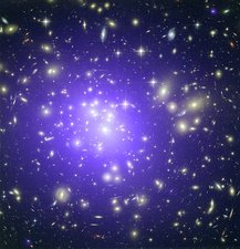 Abell 1689 galaxy cluster, X-ray image