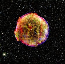 Tycho supernova remnant, composite image