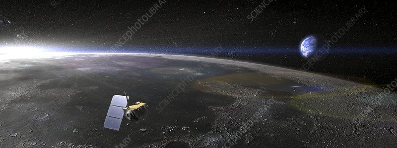 Lunar Reconnaissance Orbiter, artwork