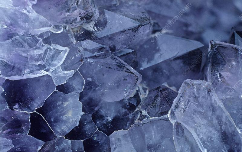 Amethyst crystals, variety of Quartz