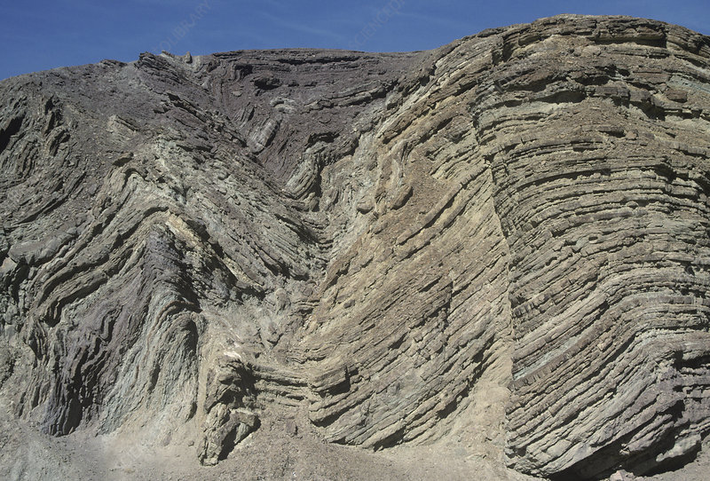 Anticline and syncline, California, USA
