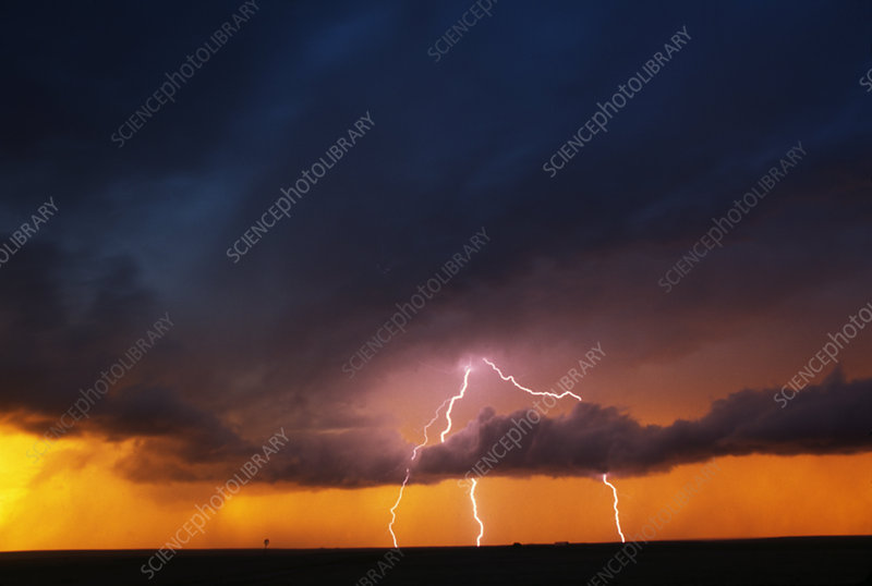 Daytime cloud-to-ground lightning