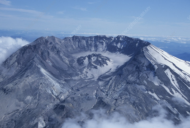 Mt. St. Helens crater and lava dome