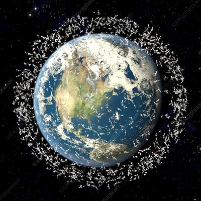 Space junk, conceptual artwork