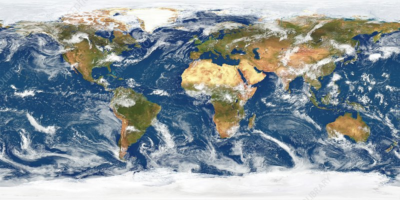 Global weather satellite images