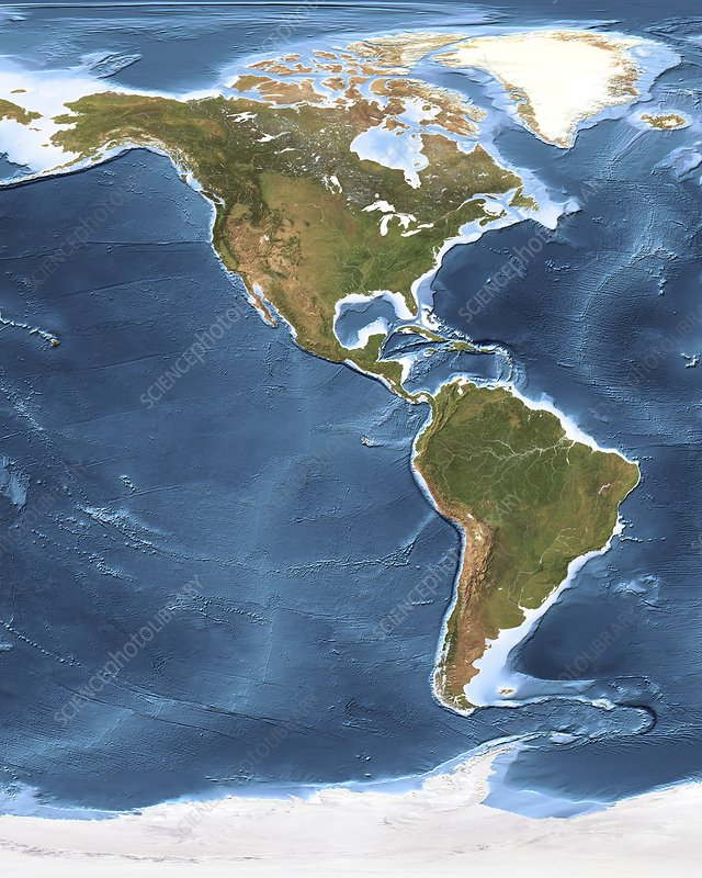 North And South America Satellite Image Stock Image C - North america satellite image