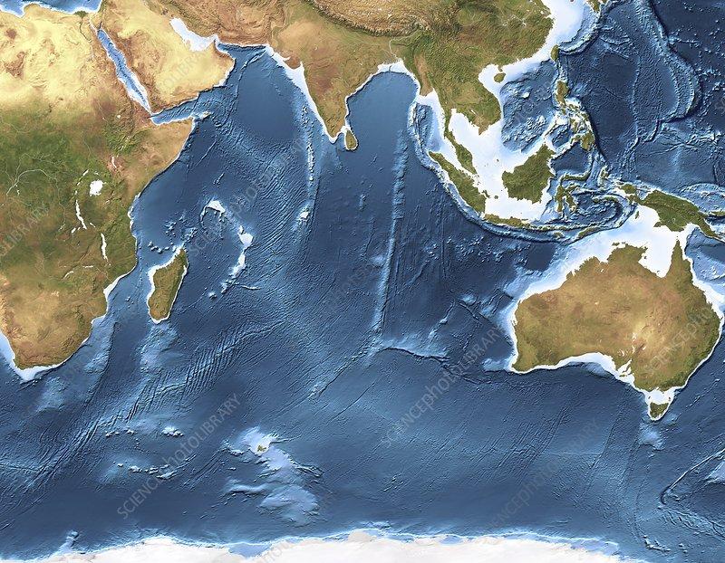 Indian Ocean sea floor topography