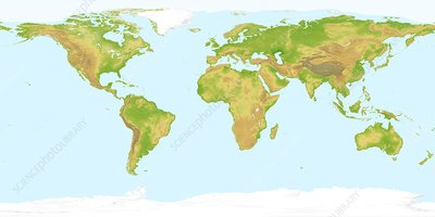 World land topography