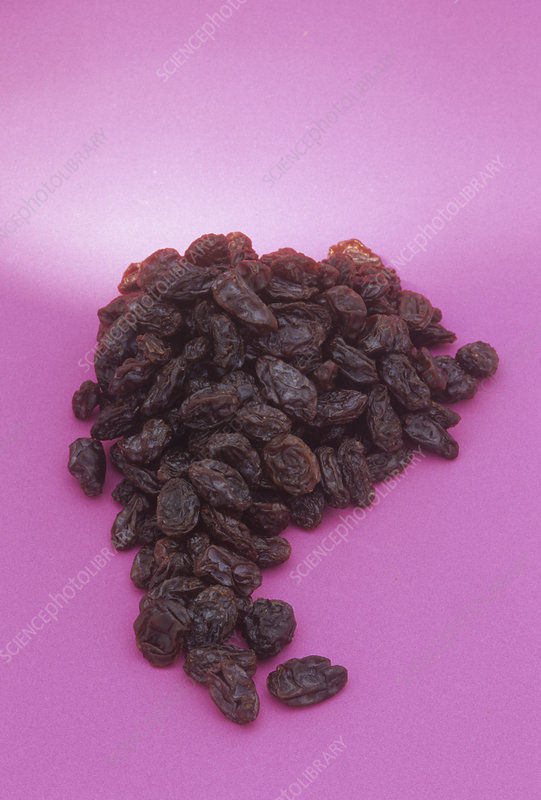 Raisens, made from dried grapes