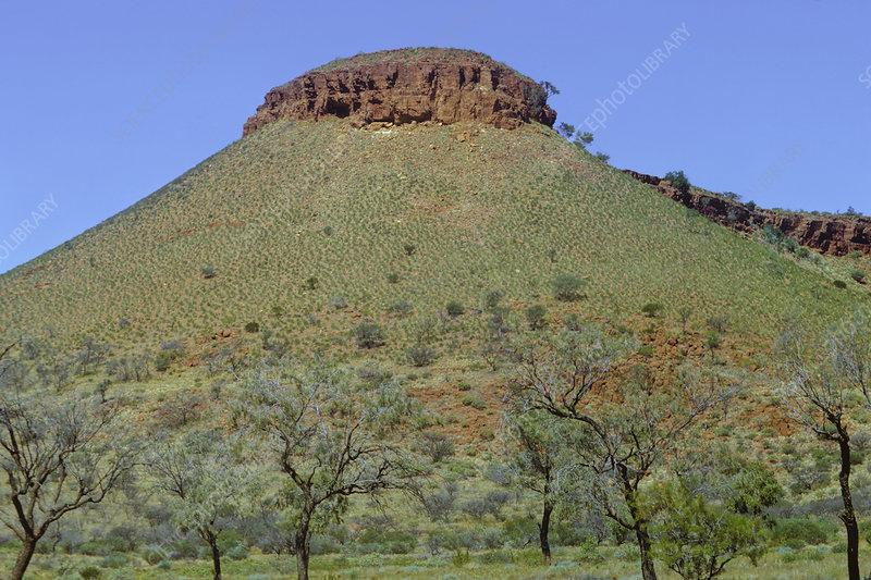 A butte or small mesa, Australian desert