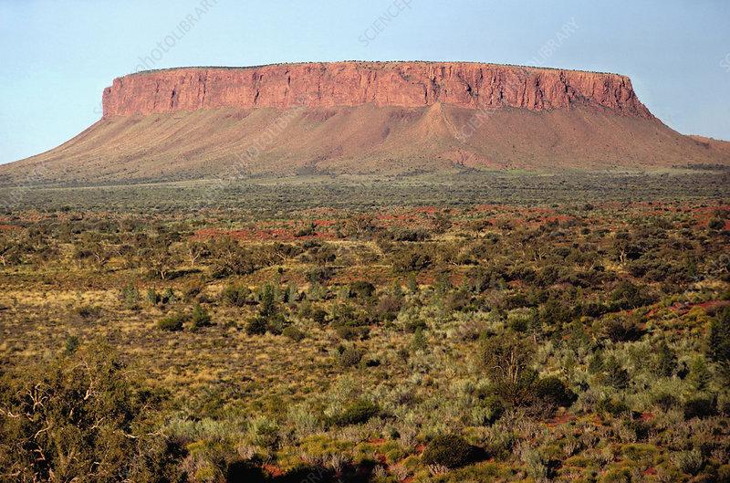 Mt. Connor, a mesa or tabular inselberg