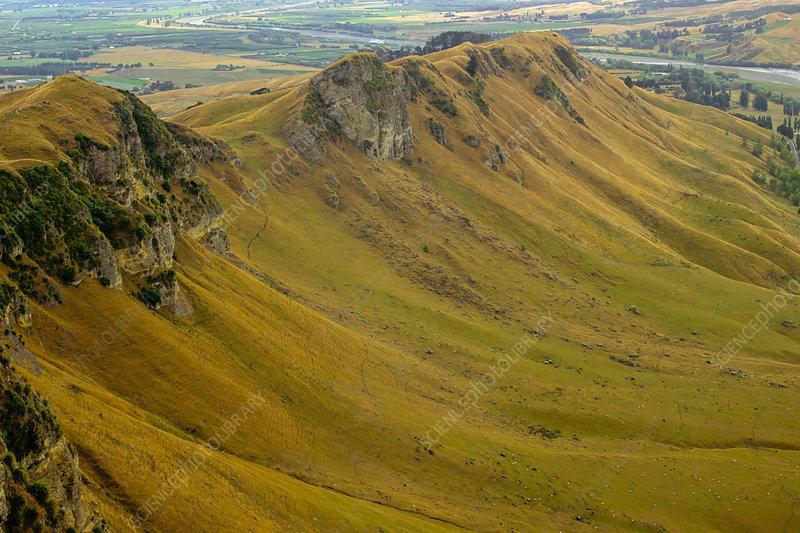Upper Pliocene limestone cuesta