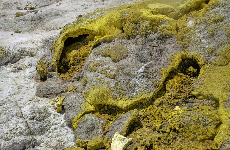 Steam and sulfur at fumerole