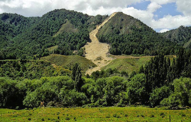 Landslide1968 Inangahua earthquake