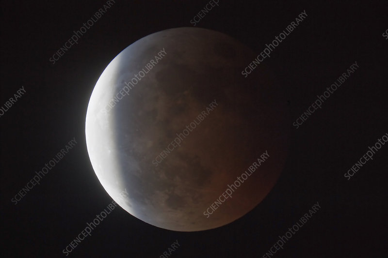 Partial phase of a total lunar eclipse