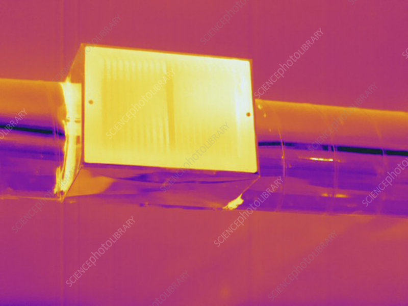 Thermogram, Heat ducts, temp variation