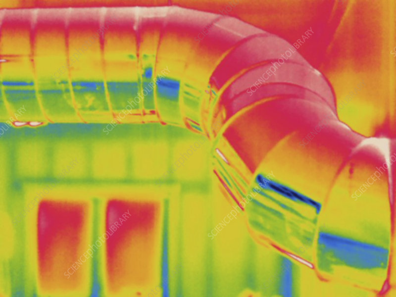 Thermogram, Heating duct, temp variation