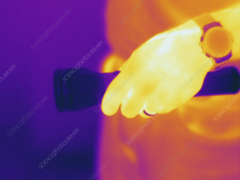 Thermogram, flashlight, temp variation