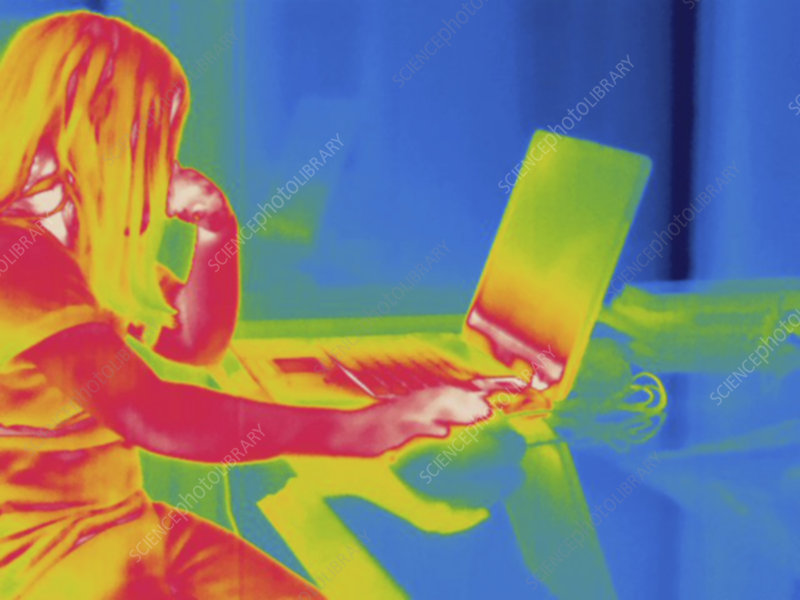 Thermogram, Child laptop, temp variation