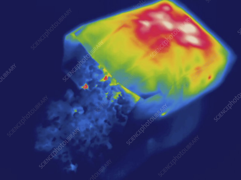 Thermogram, Hot popcorn, temp variation