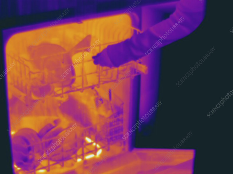 Thermogram, Dishwasher after wash cycle