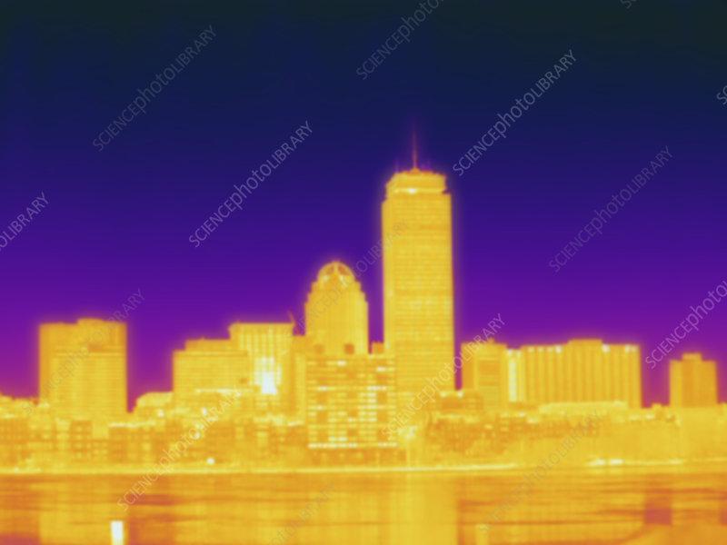 Thermogram of Boston, temp variation