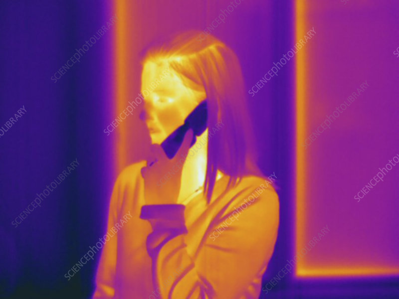 Thermogram, cell phone, temp variation
