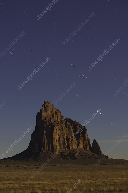 An ancient volcanic plug called Shiprock