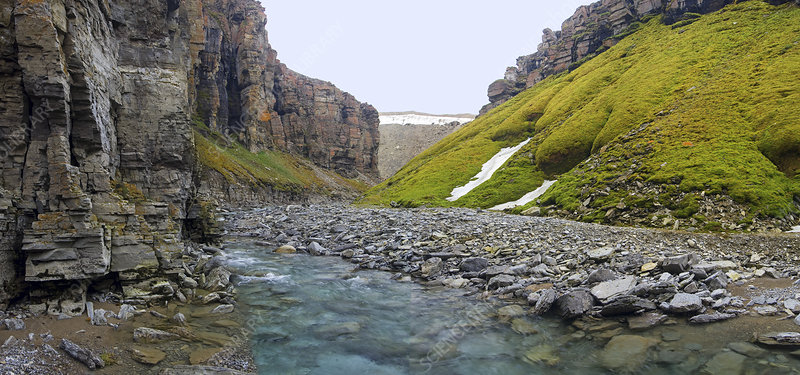 Gull Canyon and river, Somerset Island