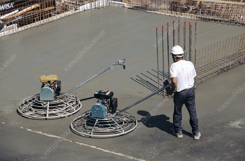 Concrete floor construction - Stock Image - C005/7841