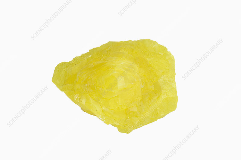 Sulfur, a native element
