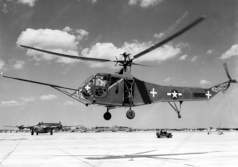 Sikorsky hoverfly helicopter, 1945